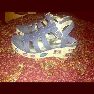 Sparkly girl sandal